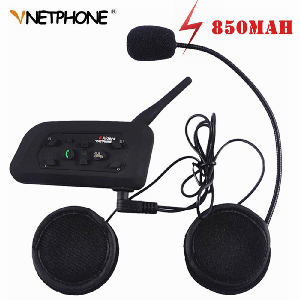 Wireless 1PCS Bluetooth Helmet Headsets 1200m Motorcycle Intercom IP65 Waterproof Synchronous Intercomunicador Helmet Intercom