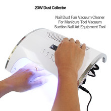 80W 2-IN-1 Nail Lamp & Nail Dust Collector Manicure Stofzuiger Manicure Gereedschap met Twee krachtige Ventilator 36 LEDs Nail Droger(China)