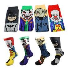 Fashion Cartoon Character Clown Joker Black Friday Batman Skateboard Socks New