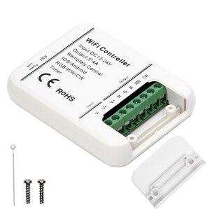 Image 3 - DC12V 24V Wifi LED בקר RGB/RGBW/RGBWW הרצועה 16 מיליון צבעים מוסיקה וטיימר מצב Wifi שליטה על ידי IOS/אנדרואיד Smartphone