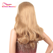 22inch Synthetic Hair Wig Lace Front Wigs For Women Omber Long Body Wave Wig Hea