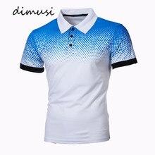 DIMUSI – Polos d'été à manches courtes pour hommes, coupe ajustée, couleurs dégradées, hauts de marque, 5XL