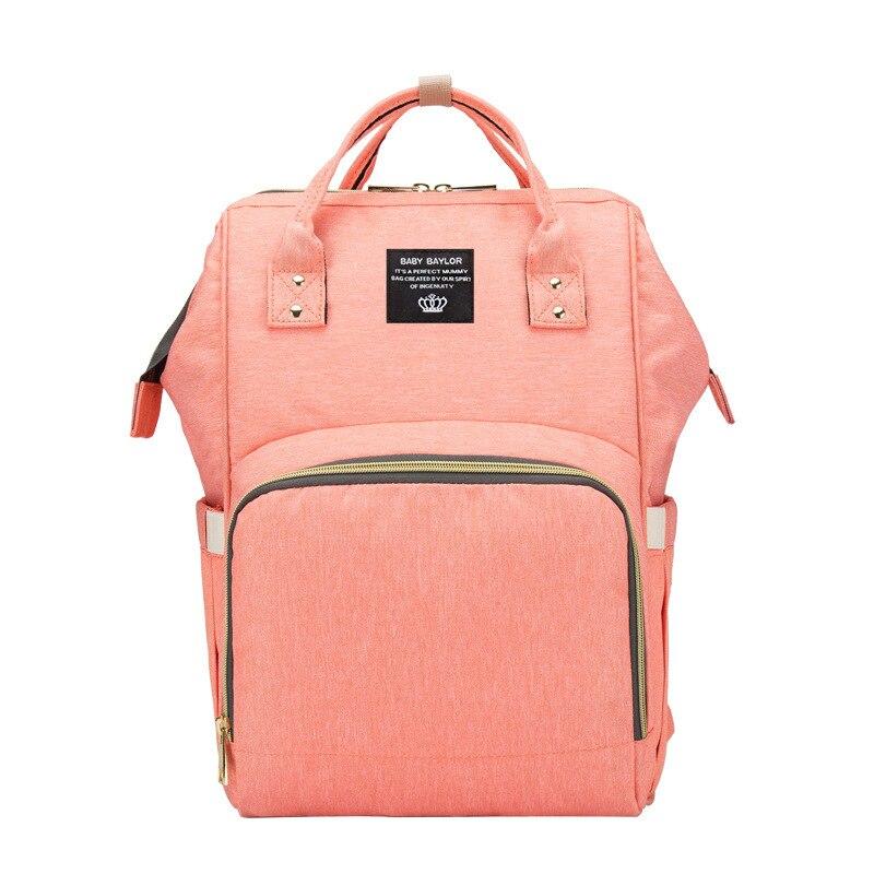 Large-Volume Diaper Bag Multi-functional MOTHER'S Bag Waterproof Backpack Mummy Backpack Mommy Bag Customizable Logo