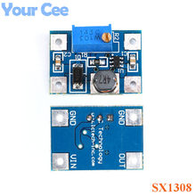 Gran Corriente 2A DC-DC SX1308 Step-UP Boost módulo de potencia ajustable impulsar el módulo convertidor B628 DIY Kit(China)