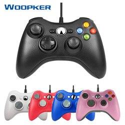USB przewodowy Gamepad dla kontroler konsoli Xbox 360 do XBOX360 Joystick do gier dla PC Windows 7/8/10