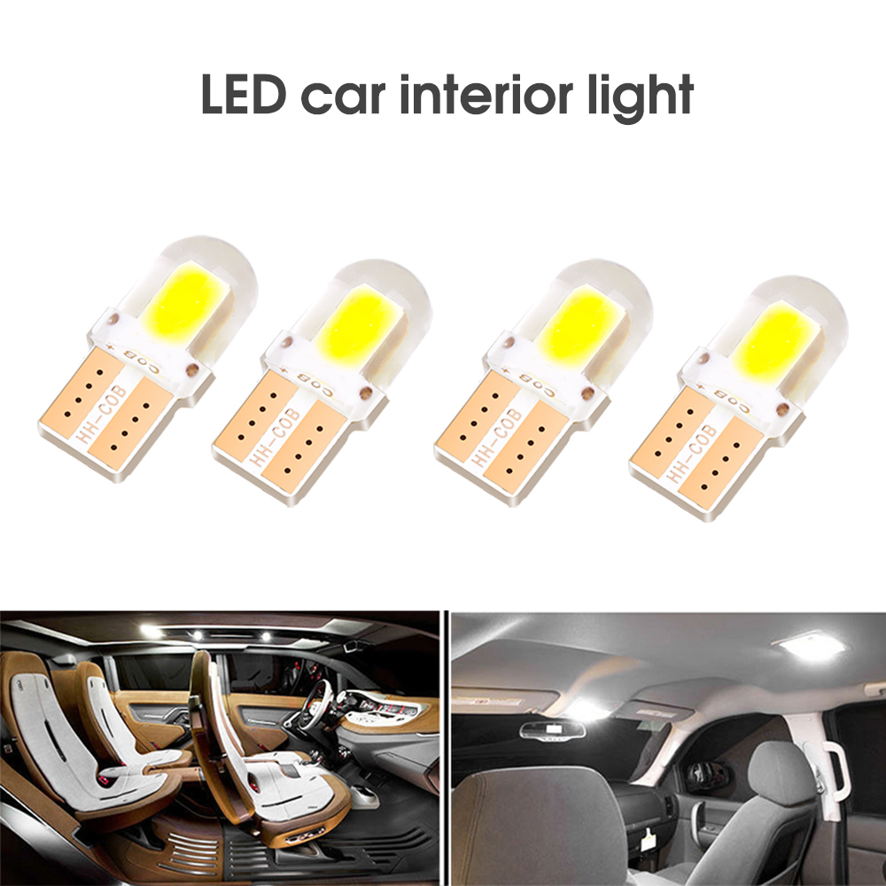 Quente 10 pces t10 led lâmpada interior do carro canbus livre de erros t10 branco 5730 4/8/12 smd led 12v cunha lateral do carro luz lâmpada branca