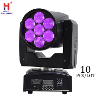 mini moving 7x12W rgbw beam stage light with dmx 512 control zoom moving head light for professional dj equipment (10pcs/lot)