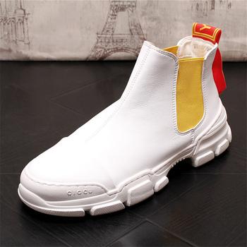 Mężczyźni buty w stylu casual skórzane buty męskie buty modne trampki męskie buty moda skórzane buty oryginalne skórzane buty męskie męskie mokasyny tanie i dobre opinie Ktip up Gumowe Dla dorosłych Stałe Wiosna jesień Skóra bydlęca Masaż Mesh Prawdziwej skóry Przypadkowi buty Pasuje prawda na wymiar weź swój normalny rozmiar