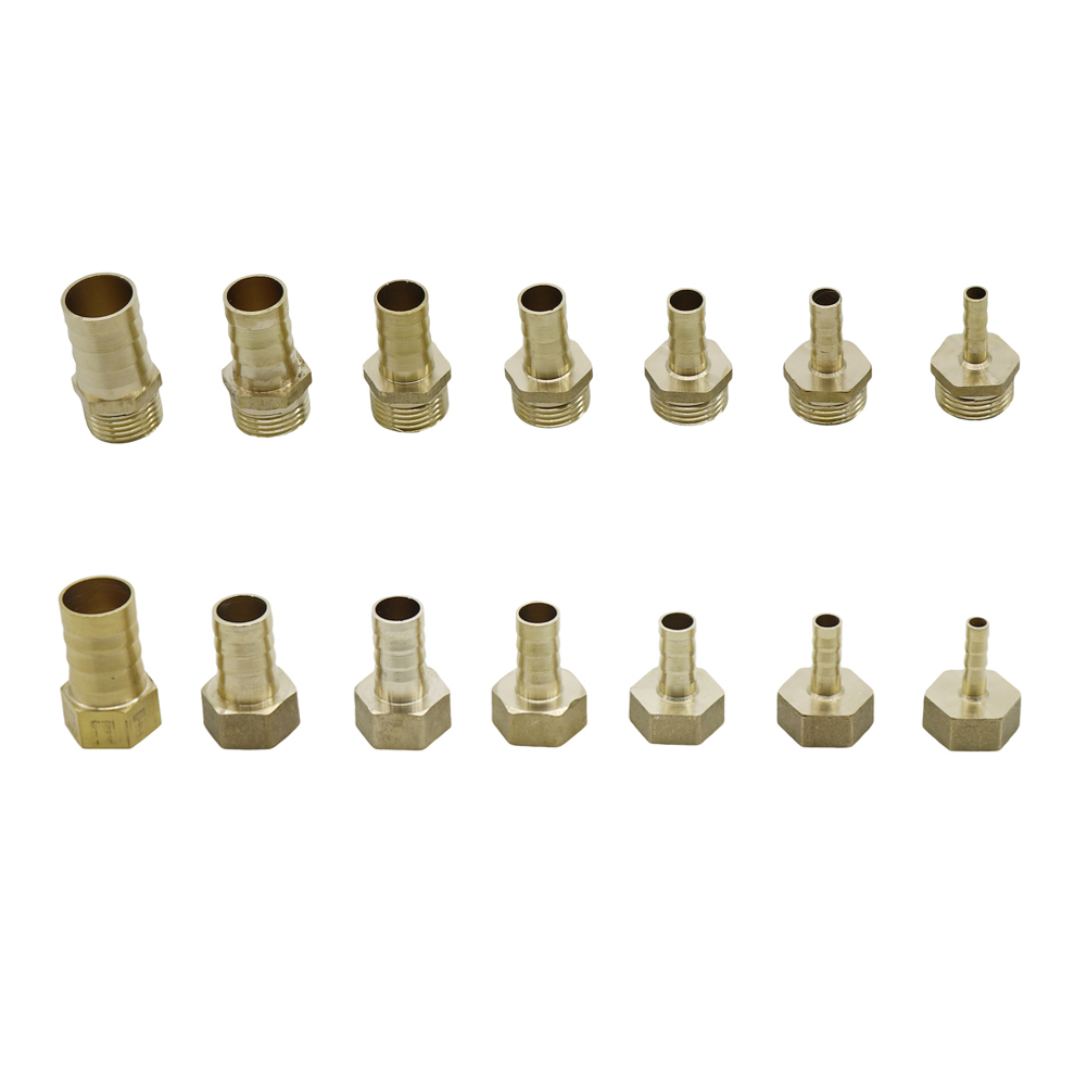 Brass Pipe Fitting 6mm 8mm 10mm 12mm 14mm 16mm 19mm Hose Barb Tail 1/2