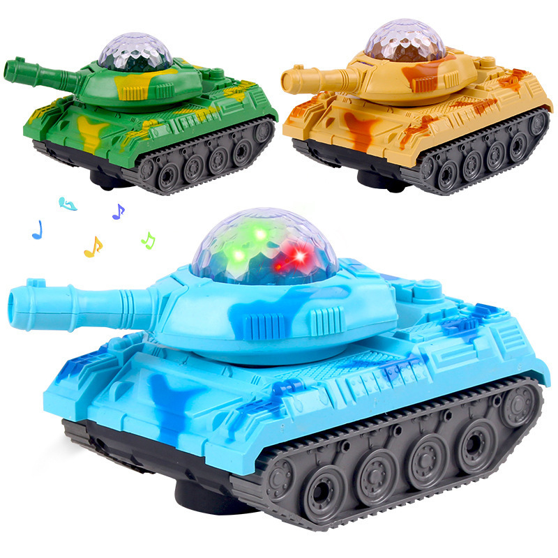 Children Birthday Gift Model Electric Tank With Flash Music Universal Tank Military Model Toy Car