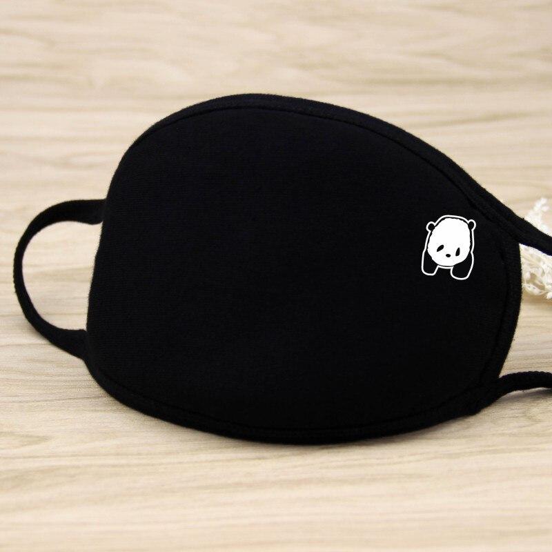 Big Size Black Panda Pure Cotton Mouth Mask Unisex Teens Anti-Dust Mask Anime Mask Fashion Health Face Mouth Mask 20*12.5CM