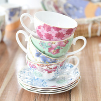 British Bone China Coffee Cup High grade Porcelain Afternoon Teacup And Saucer Set European style Drinkware Gift