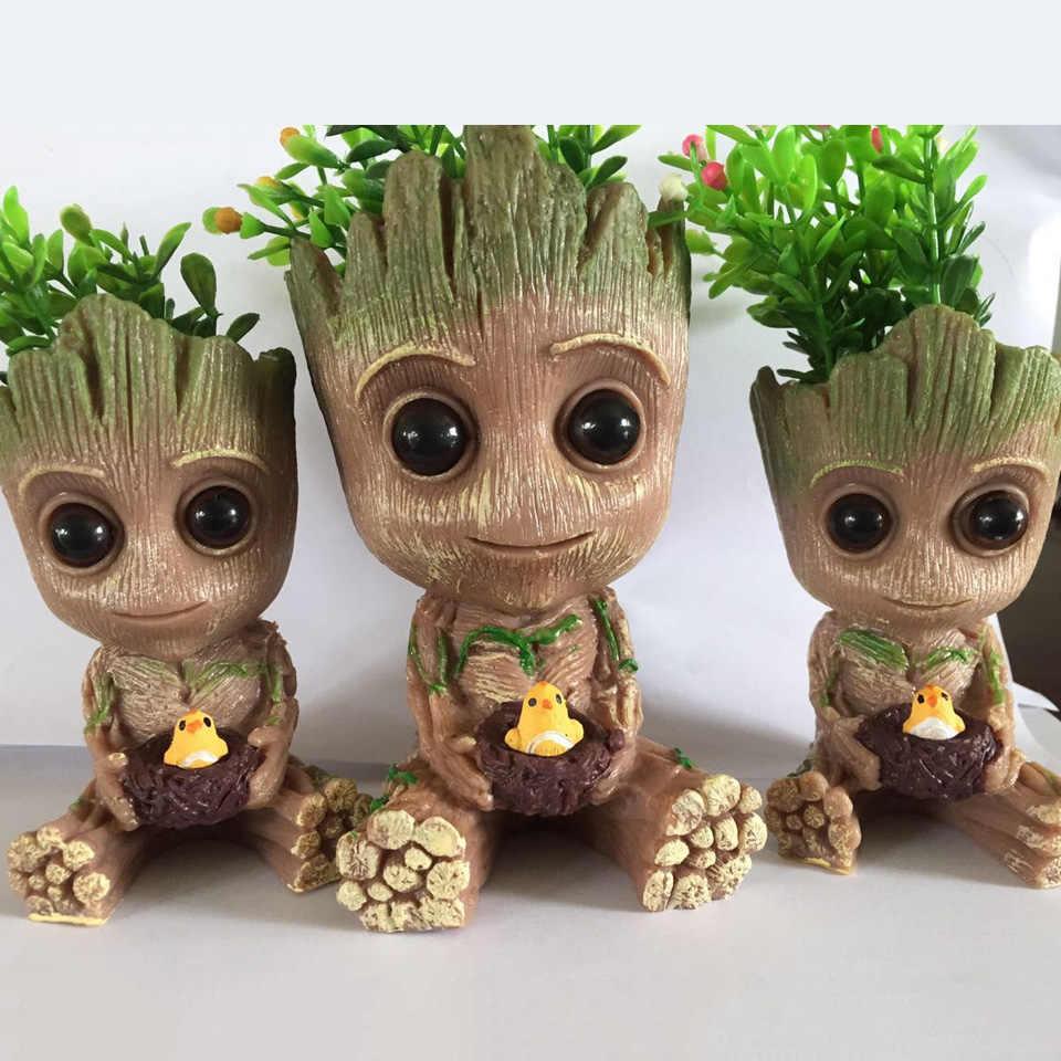 Flowerpot Strongwell Groot Caneta Titular Vaso de Plantas Vaso de Flores Bebê Bonito Figuras de Ação Brinquedos para Crianças Presente Decoração de Mesa