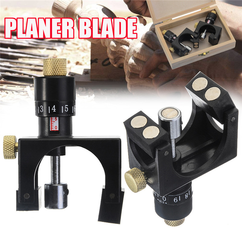 2Pcs /set Wood Planer Jointer Knife Setting Jig Planer Blade Woodworking Cutter Aligner Plastic With Magnet Material