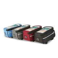 Велосипед сумка передняя рамка телефон сумка двойной боковой молнии Велоспорт Маунт мобильного телефона пакет с сенсорным экраном