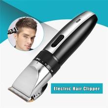الكهربائية قابلة للشحن مقص الشعر الشعر المتقلب قطع حلاقة الحلاقة Trimer للرجال مع التيتانيوم السيراميك شفرة الحد مشط