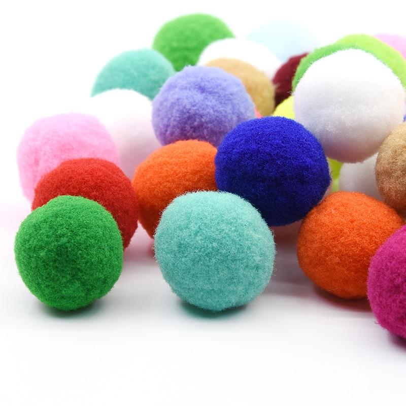 10Pcs mix color 8cm Big pompom Fluffy Plush cloth Craft DIY Soft poms ball
