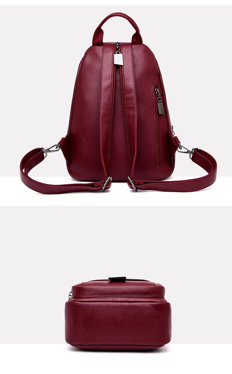 Women's Vintage Leather Backpack 17