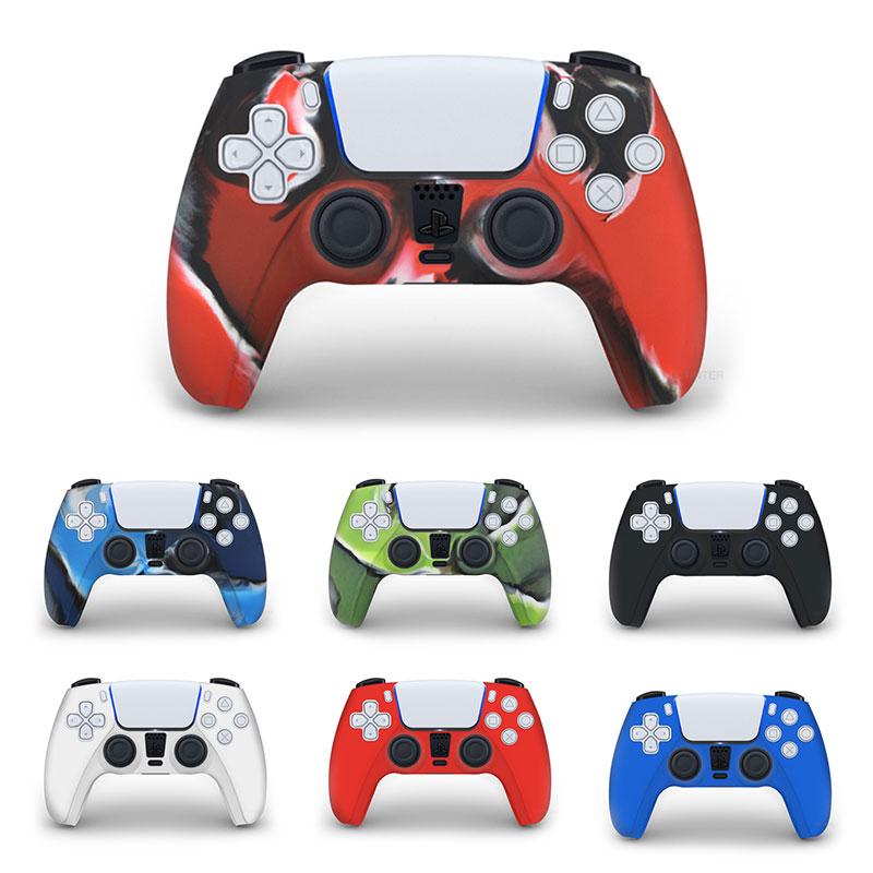 Para PS5 funda de silicona suave Gel de goma para SONY Playstation 5 para PS5 funda de protección de controlador para PS5 Gamepad