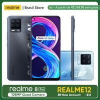realme 8 Pro 108MP Camera Global Version 6gb+128gb Snapdragon 720G 50W SuperDart Charge AMOLED EU Plug Charger With NFC 1