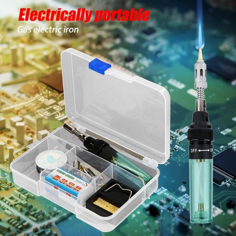 Portable Triad Butane Gas Electric Soldering Iron Set Universal Solder Iron Plastic Welding Equipment Tool Set