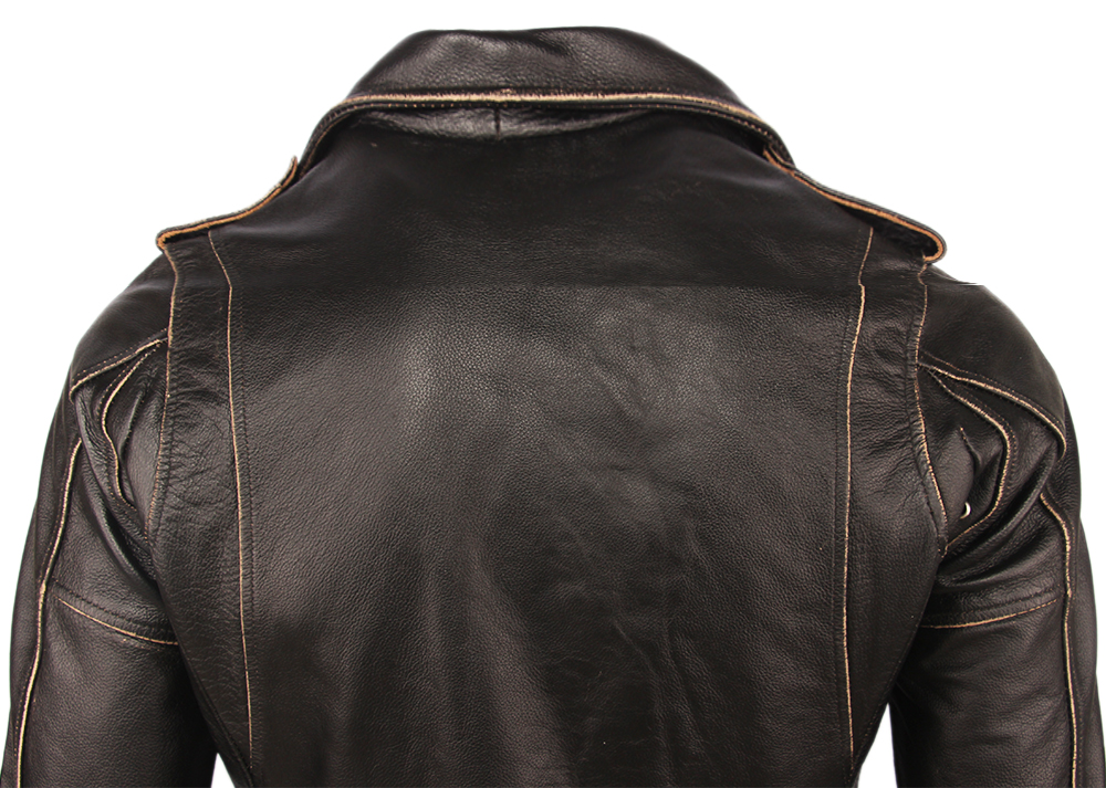 H26ff79f12728498faaa79987ad6dba1bd Vintage Motorcycle Jacket Men Leather Jackets Thick 100% Cowhide Genuine Leather Coat Winter Biker Jacket Moto Clothing M456