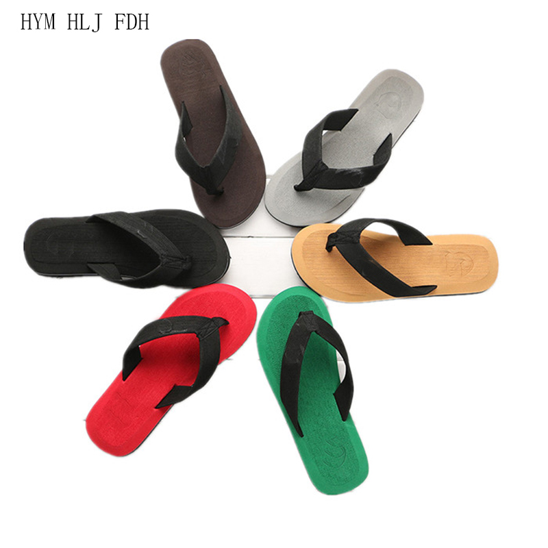 Men's <font><b>Shoes</b></font> Male Flip-flops Slippers Leisure High Density <font><b>EVA</b></font> <font><b>Material</b></font> Massage Beach Household Slippers Sandals image