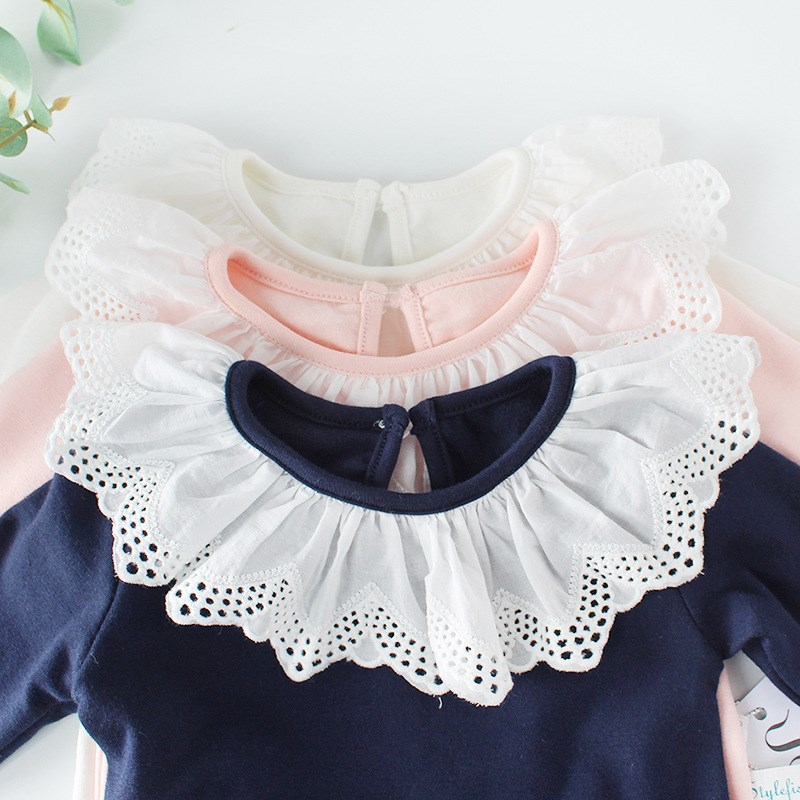 Clothes-Tops Shirts Toddler Long-Sleeve Fall Baby-Girl Child Cotton Kid Pink White Tee