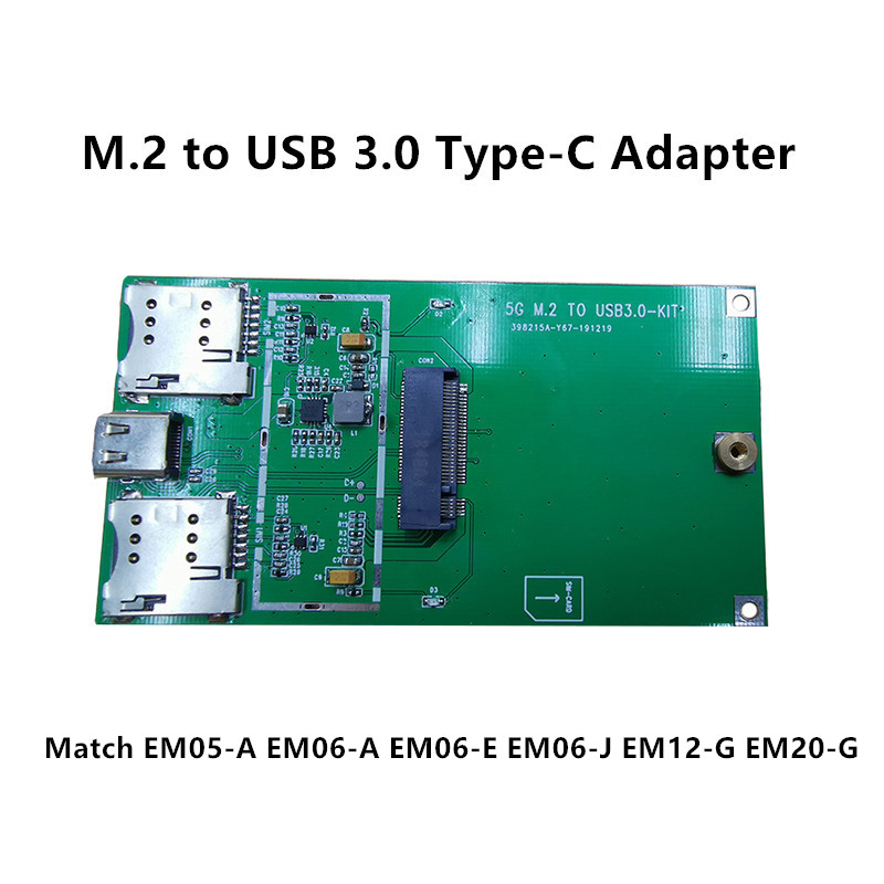 M.2 To USB 3.0 Type-C Industrial Adapter Board USB To NGFF For Quectel 4G LTE Module EM05-E EM06-A EM06-E EM06-J EM12-G EM20-G