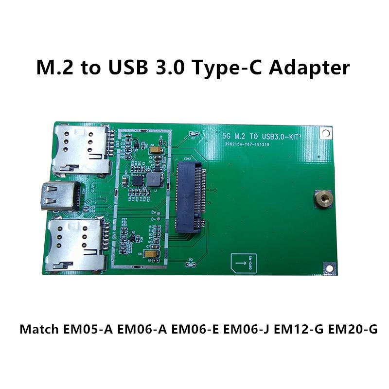 M.2 To USB 3.0 Type-C Industrial Adapter Board USB To NGFF For Quectel 4G LTE Module EM05-E EM06-A EM06-E EM06-J EM12-G EM20-G
