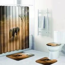 3Tlg Bath Mat Bath Mat Bathroom Rug Modern Bathroom Shower Curtain