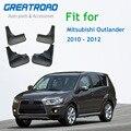 Спереди и сзади литой автомобиль брызговики для Mitsubishi Outlander 2010 2011 2012 брызговики брызговик крыло брызговиков