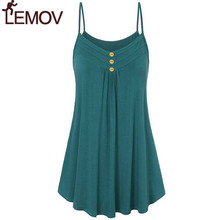 Plus Size 5XL Summer Tank Top Womens Tunic Button V Neck Tops Sleeveless Loose Casual Tank Ladies Clothes Women haut femme LEMOV все цены