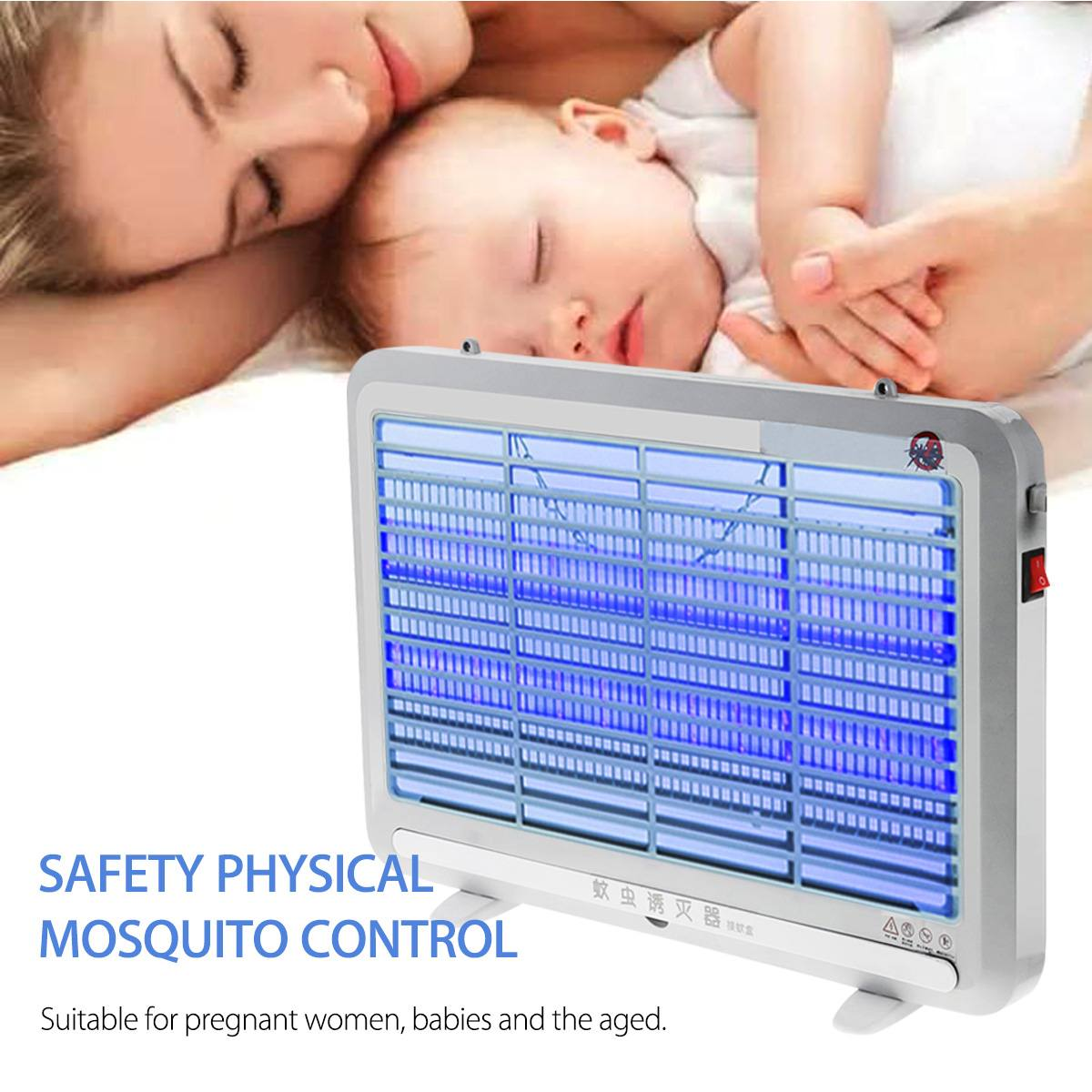 8W Electric Mosquito Killer Lamp LED UV-A Pest Fly Insect Anti Mosquito Repeller LED Lamp Home Pest Control Light Fixture