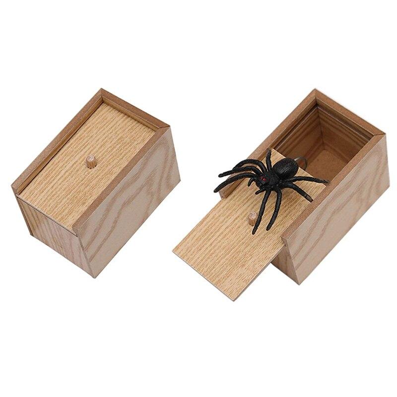 Caja de madera de 2 piezas para broma, caja de madera para broma sorpresa hecha a mano Máscaras reutilizables divertidas de moda de 182