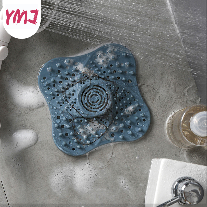 Bathroom Floor Drain Stopper Rubber Circle Silicone Kitchen Strainer Filter
