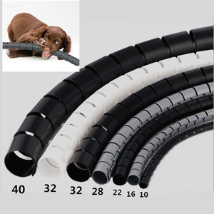 Image 2 - 5 מטרים 16FT כבל ניהול מגן חוט לעטוף כבל מסודר ארגונית צינור היטלר גמיש להרחבה בית משרד חוט קונסילר