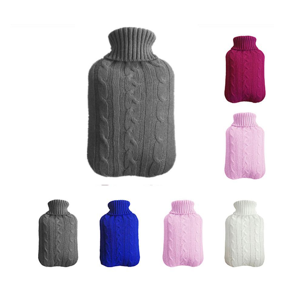 Защитный термозащитный чехол для 2000 мл бутылка для горячей воды Безопасный съемный вязаный морозостойкий моющийся чехол