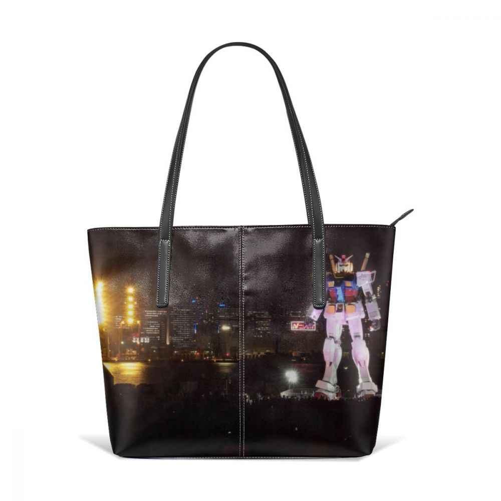Gundam Rx 78 bolso de mano RX 78 Gundam bolsos de mano de cuero para mujeres adolescentes bolso de mano tendencia de alta calidad mochila bolsos de las mujeres