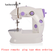 Mini Electric Multi-Function Sewing Machine With Lamp Desktop Household Free-Arm Crafting Speed Adjustment Sewing Machine 089185