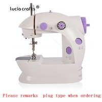 Mini máquina de coser multifunción eléctrica con lámpara de escritorio casa libre-brazo artesanal ajuste de velocidad máquina de coser 089185