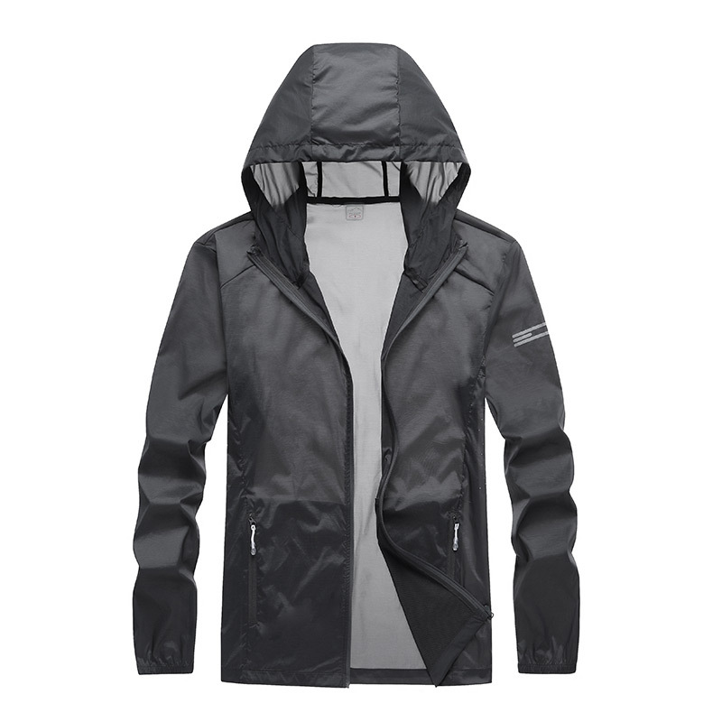 19-Couples Coat Men's Women's Skin Suit Outdoor Sports Summer Ultra-Thin Breathable Trench Coat Office Version
