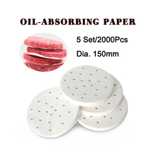 ITOP 5 Set 2000 Pcs 150mm Burger Patty Paper Oil Absorbing Suitable For Hamburger Press Machine Food Grade Material