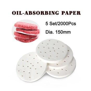 ITOP 5 Set 2000 Pcs 150mm Burger Patty Paper Oil Absorbing Paper Suitable For 150mm Hamburger Press Machine Food Grade Material