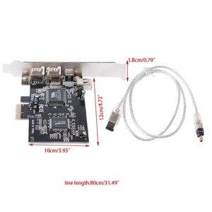 1 Set Pci-E 1X IEEE 1394A Porta 4 (3 + 1) scheda Firewire Adattatore Con 6 Spille A 4 Spille IEEE 1394 Cavo Per PC Desktop di Alta Qualità Au06(China)