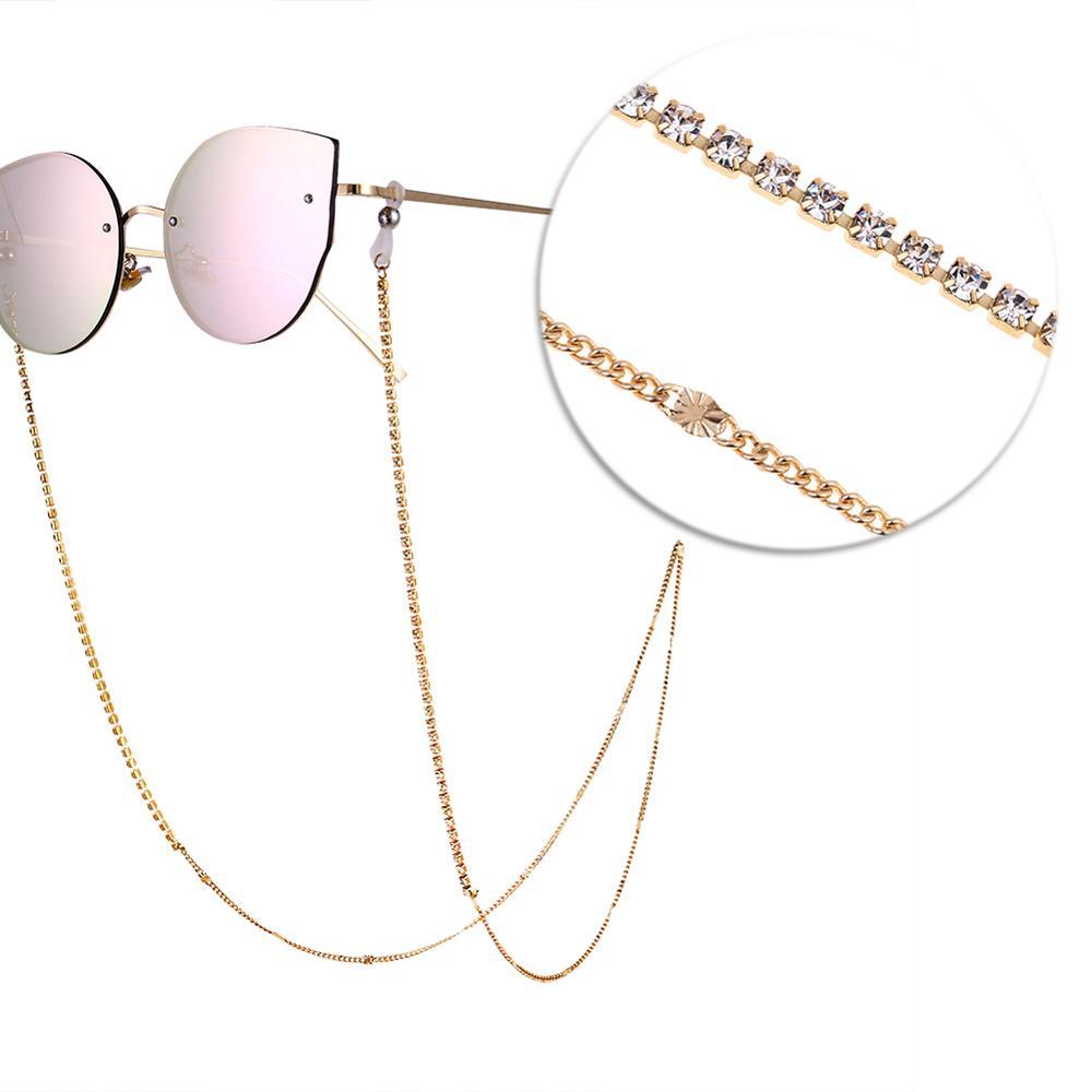 Woman Fashion Glasses Chain Landyards Anti-Slip Chain Eyewear Holder Lanyard Necklace Sunglasses Diamond Chain Straps