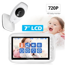7 inch Wireless Baby Monitor 720P HD Baby Nanny Security Video Camera Night Vision Temperature Monitoring