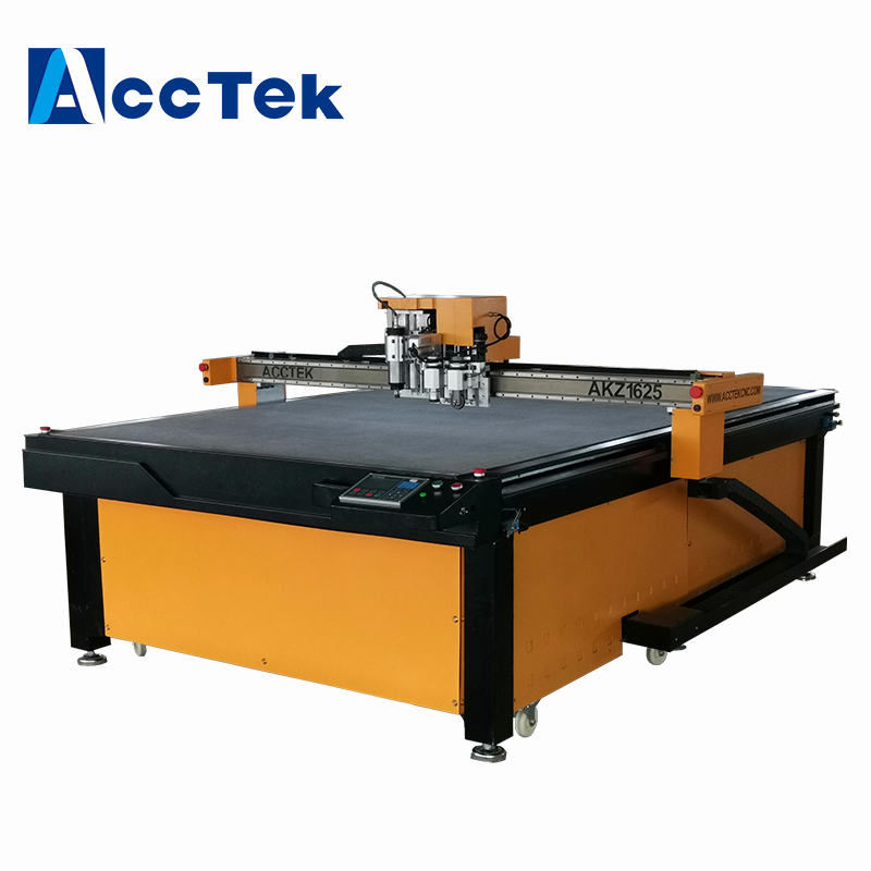 Cutting Rubber Gaskets With CNC Routing Machines Oscillating Knife Blade Cutting Machine With Punch For Make Shoes