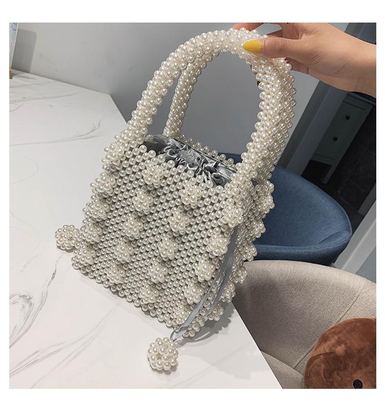 Magic Handbags Women Pearl Handmade Bag Beaded Totes Evening Bags Clutch Wallet