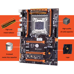 Image 2 - HUANANZHI deluxe X79 LGA2011 האם עם M.2 NVMe חריץ מעבד Xeon E5 2690 C2 2.9GHz עם למעבד רם 32G (4*8G) REG ECC